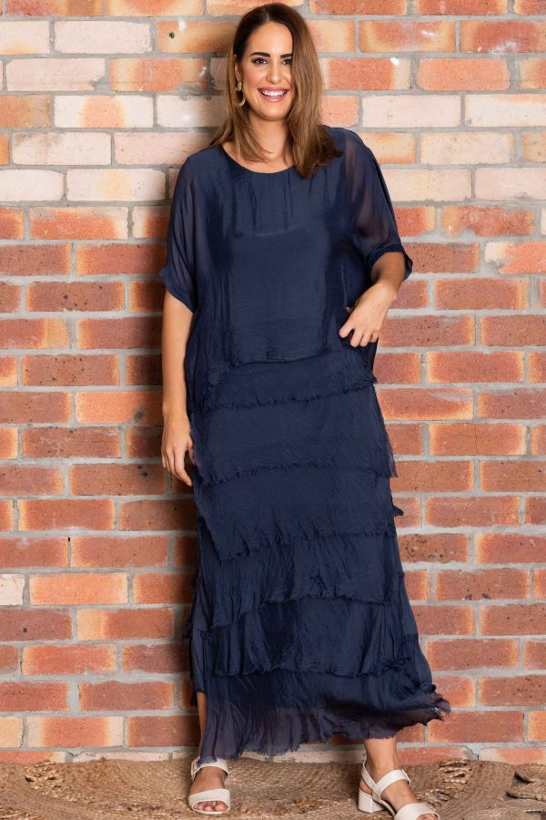 Maree Dress - Navy