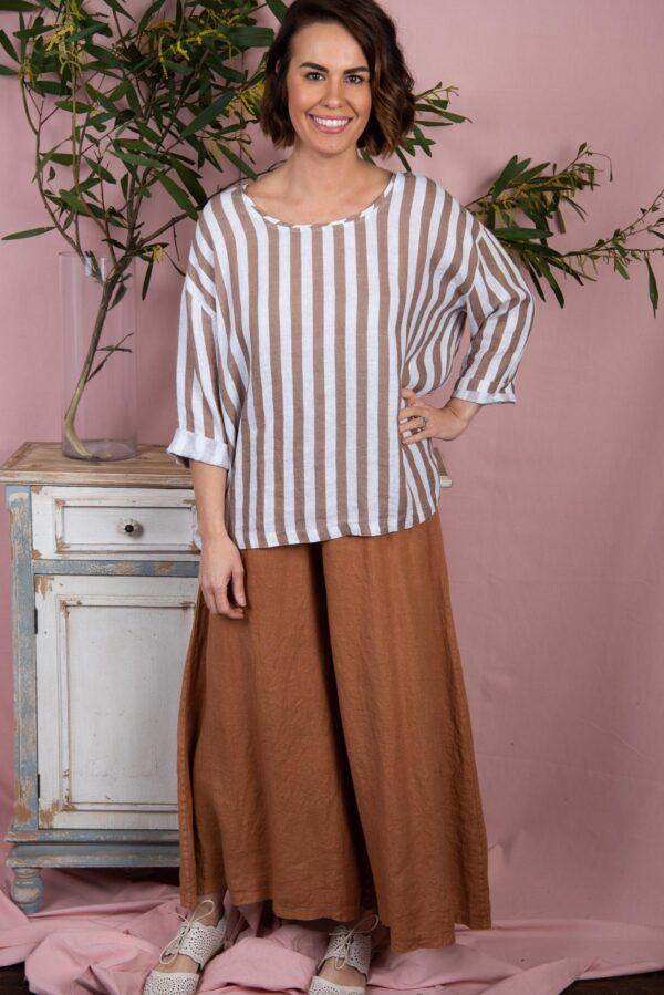 comfortable wide leg 100% linen pants womenswear australia