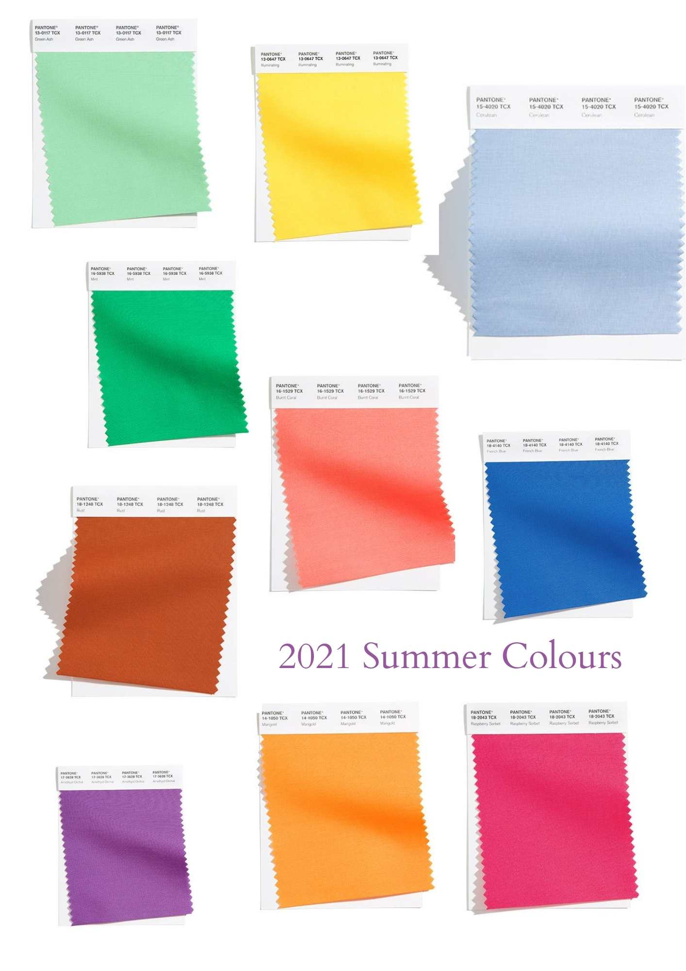 2021 summer colour trends