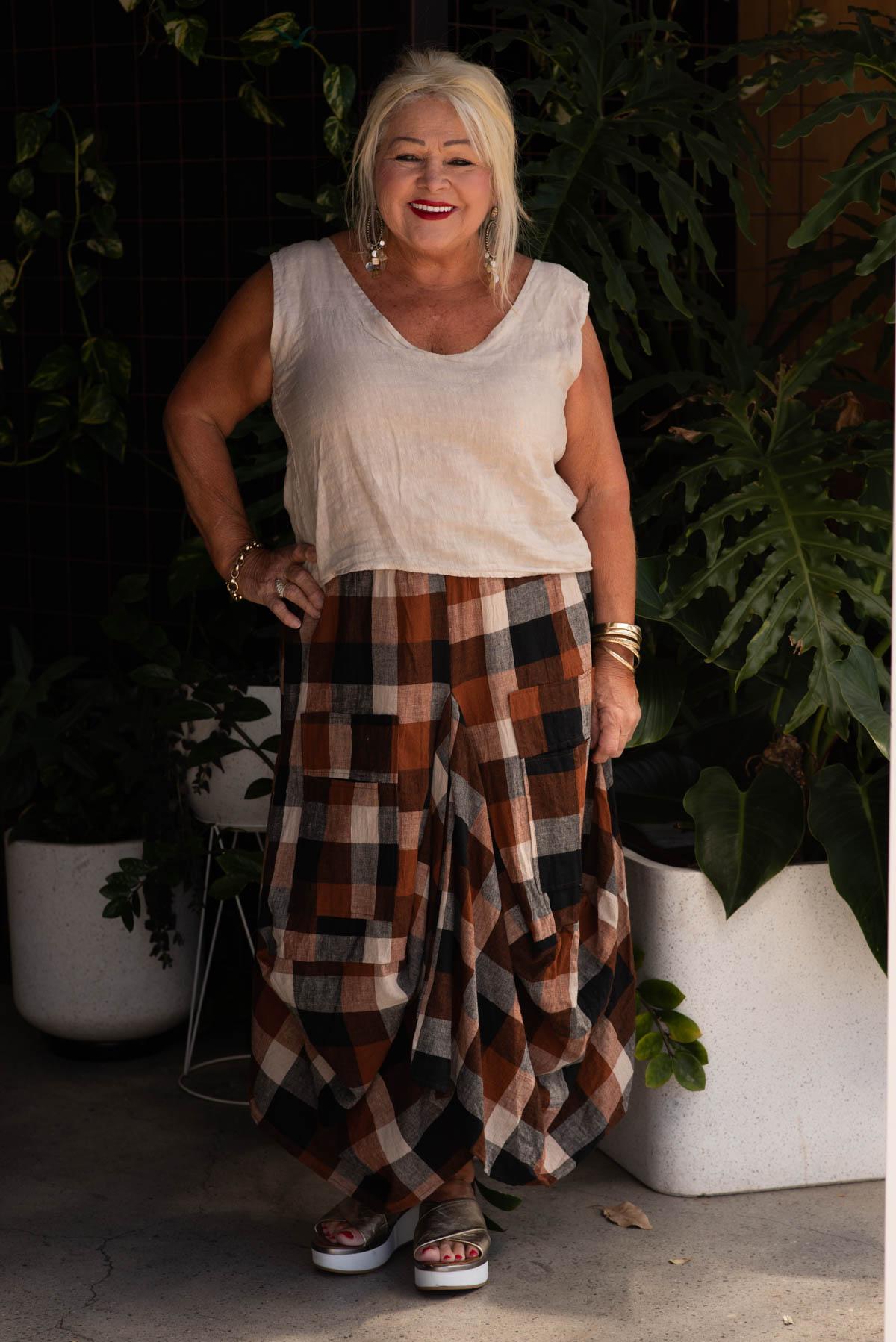 Tino Beige with Rhonda Skirt 100% Linen-2